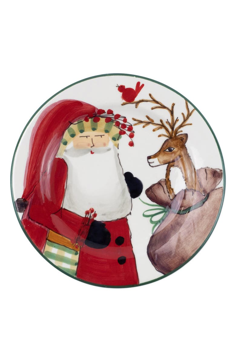 VIETRI Old St. Nick Salad Plate, Main, color, 100