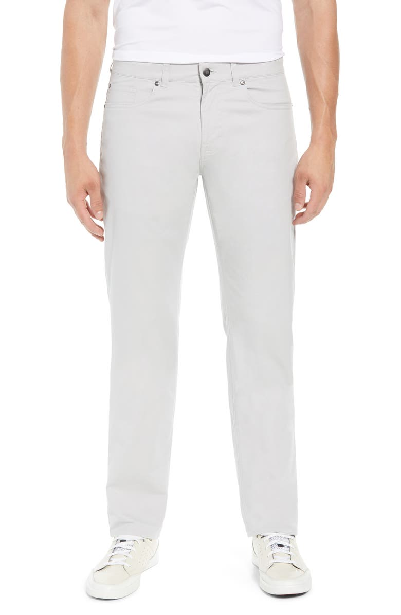 PETER MILLAR Soft Touch Twill Pants, Main, color, GREY