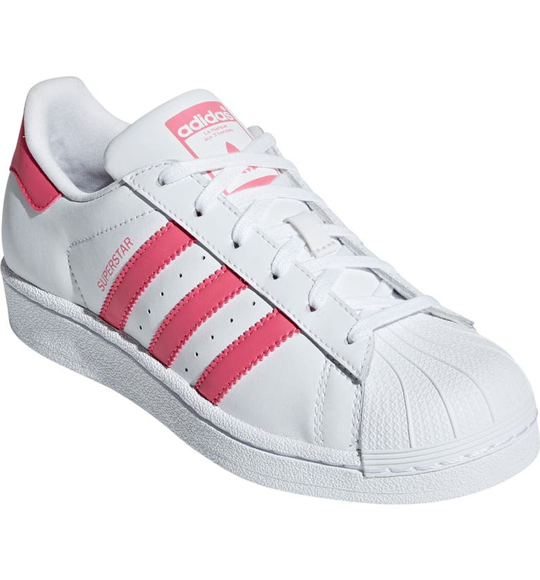 ADIDAS 'Superstar II' Sneaker, Main, color, WHITE/ REAL PINK/ REAL PINK