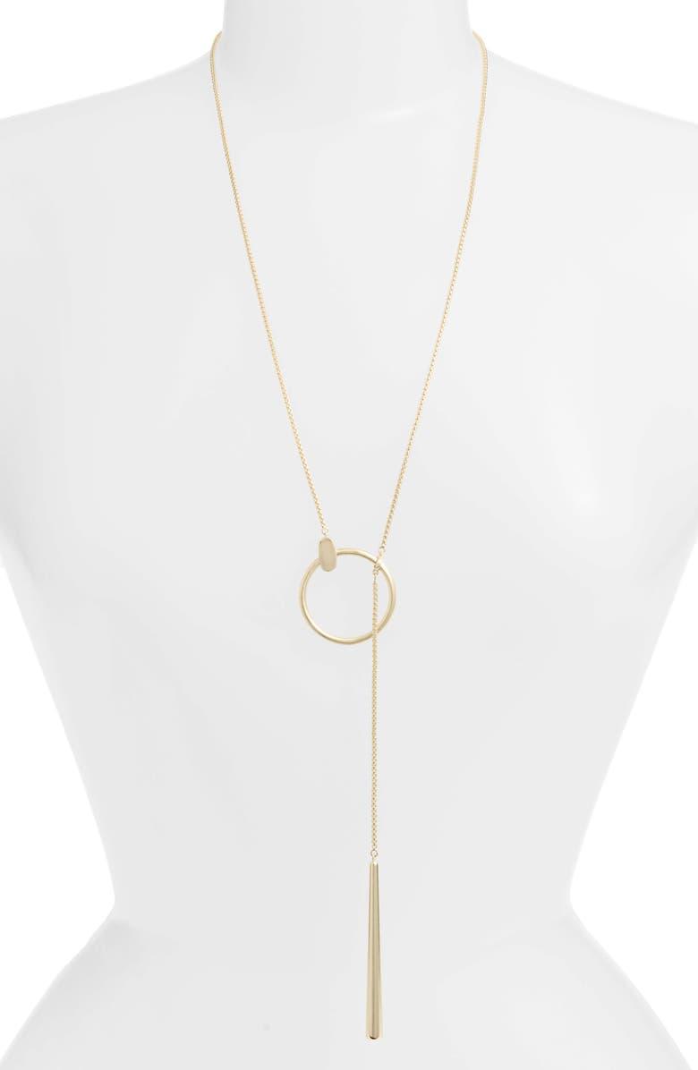 KENDRA SCOTT Tegan Slider Necklace, Main, color, GOLD