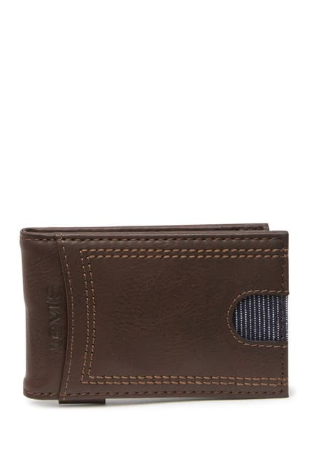 Image of Levi's Delgado RFID Front Pocket Leather Wallet