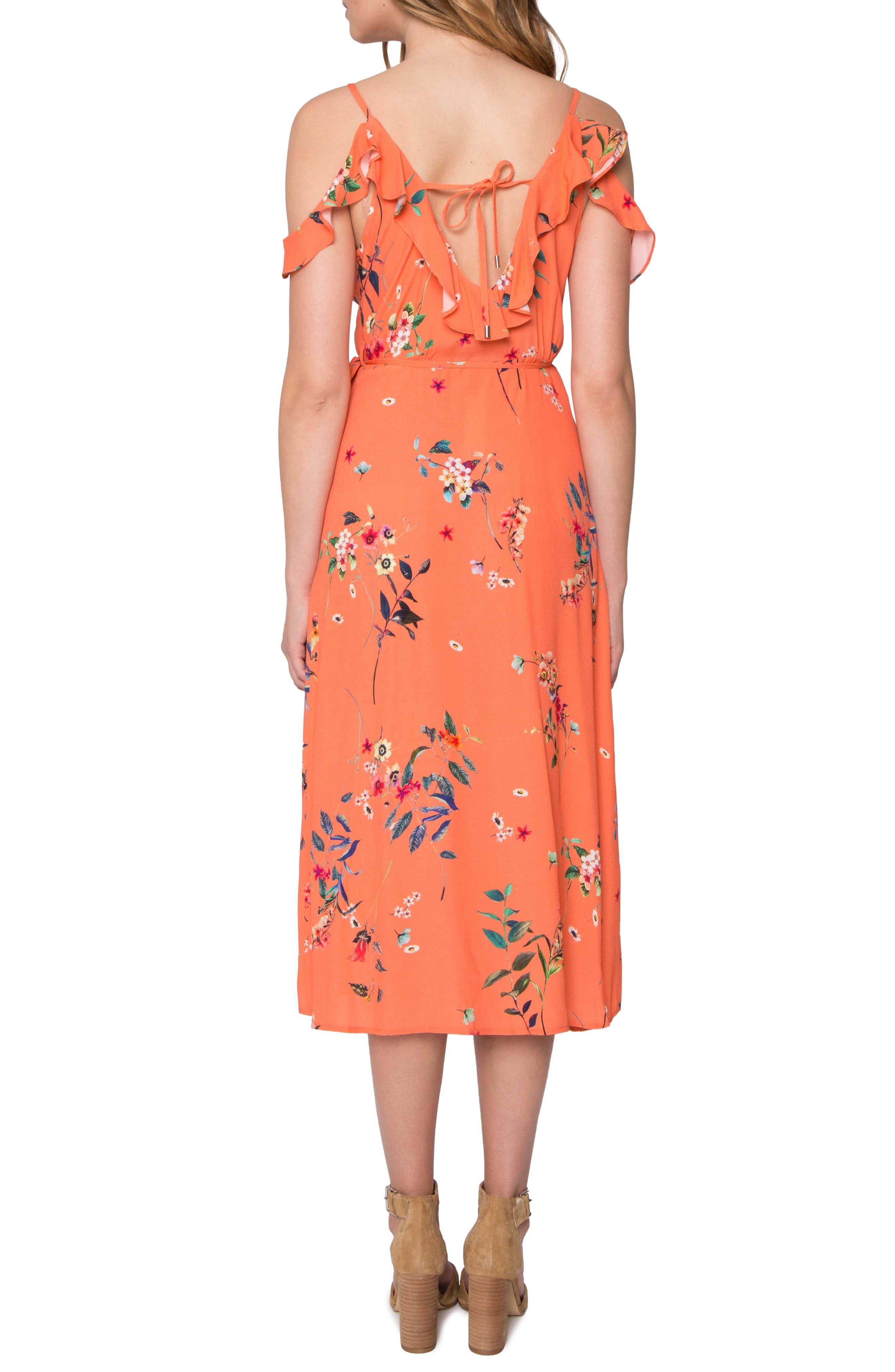 ,                             Print Midi Dress,                             Alternate thumbnail 2, color,                             848