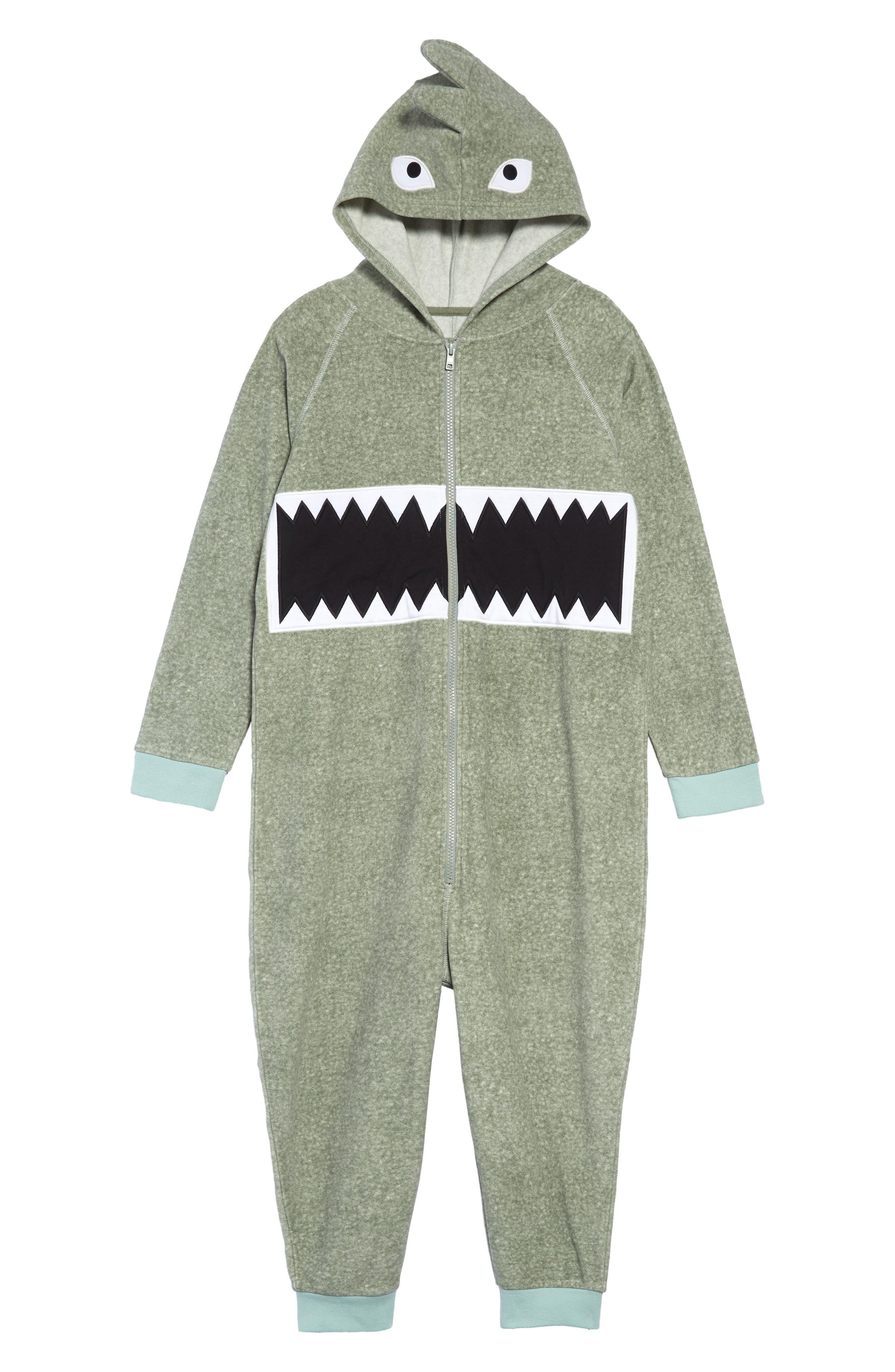 Boys Tucker  Tate Dino Animal OnePiece Pajamas Size L (1012)  Green