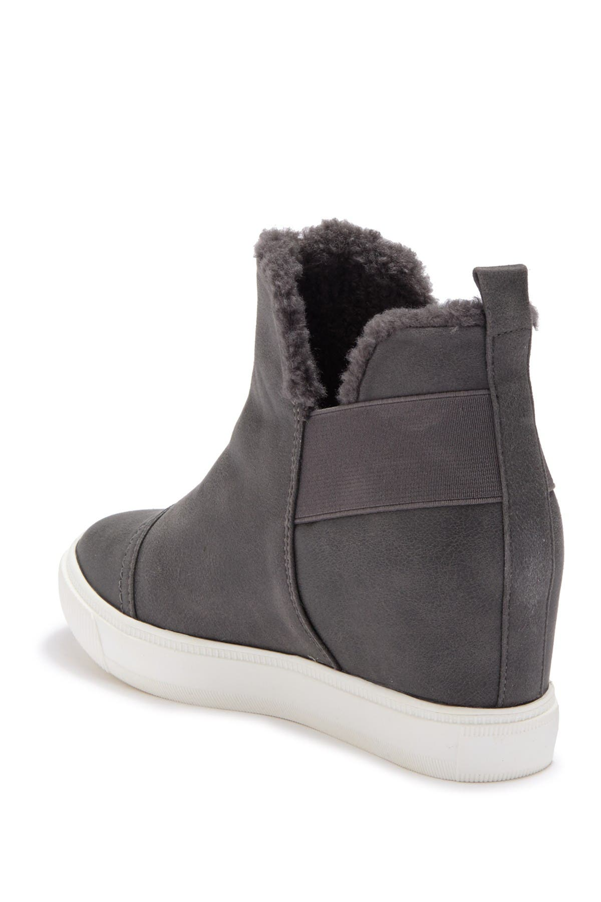 Image of DV DOLCE VITA Kenley Suede & Faux Fur Wedge Sneaker