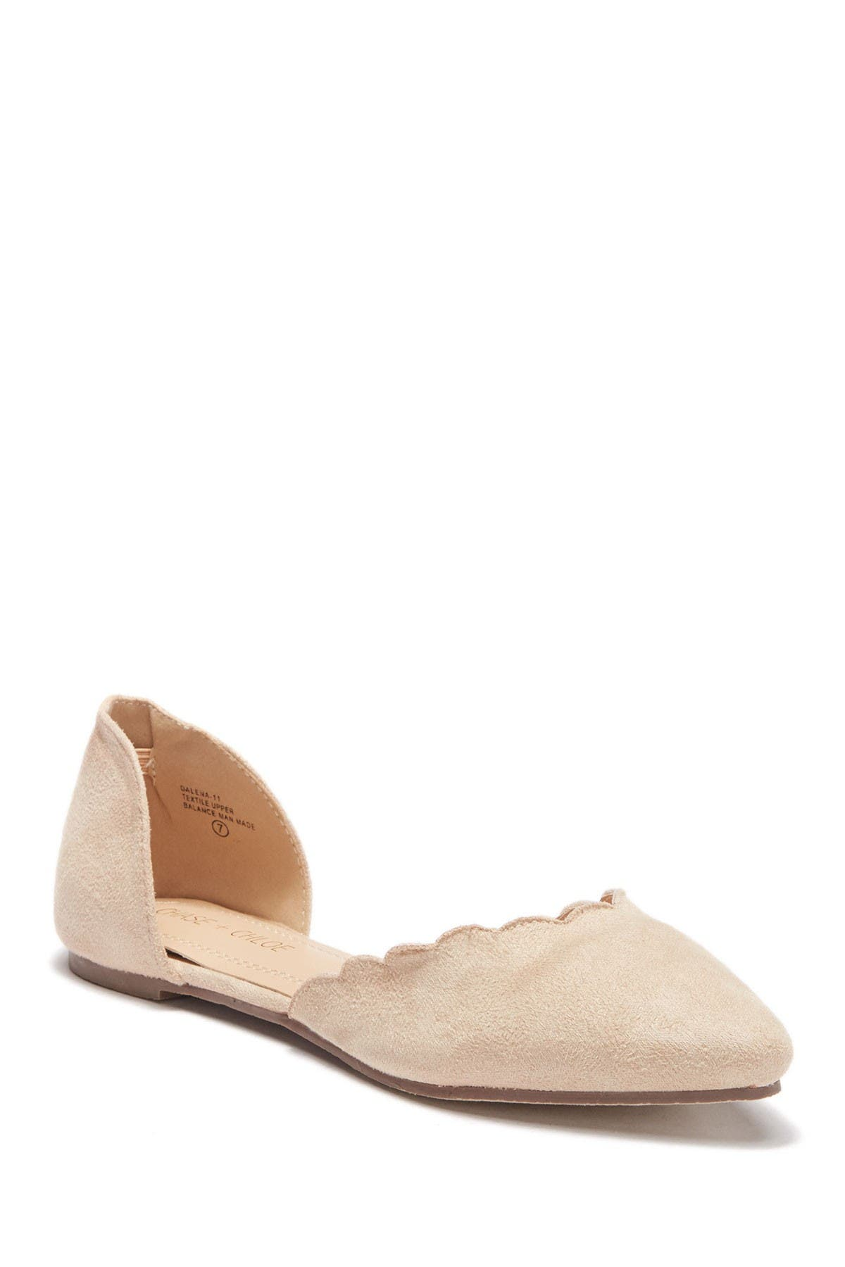 Image of Chase & Chloe Dalena Scallop Pointy Flat