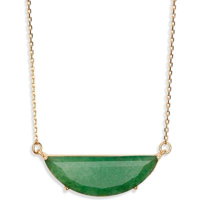 Kate Spade New York Half Moon Scallop Mini Pendant Necklace
