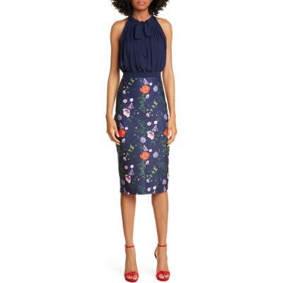 Ted Baker London Halter Pencil Dress, Blue
