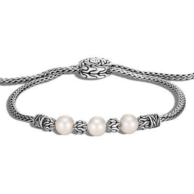 John Hardy Classic Chain Pearl Pull Through Bracelet