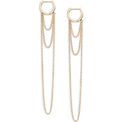 Jennifer Zeuner Elmar Huggie Chain Earrings