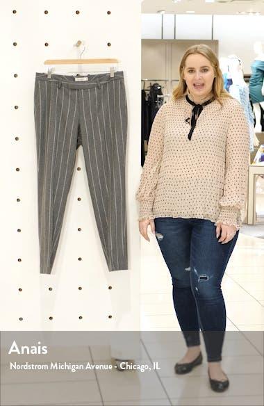 Robin Classic Fit Chalk Stripe Wool Trousers, sales video thumbnail