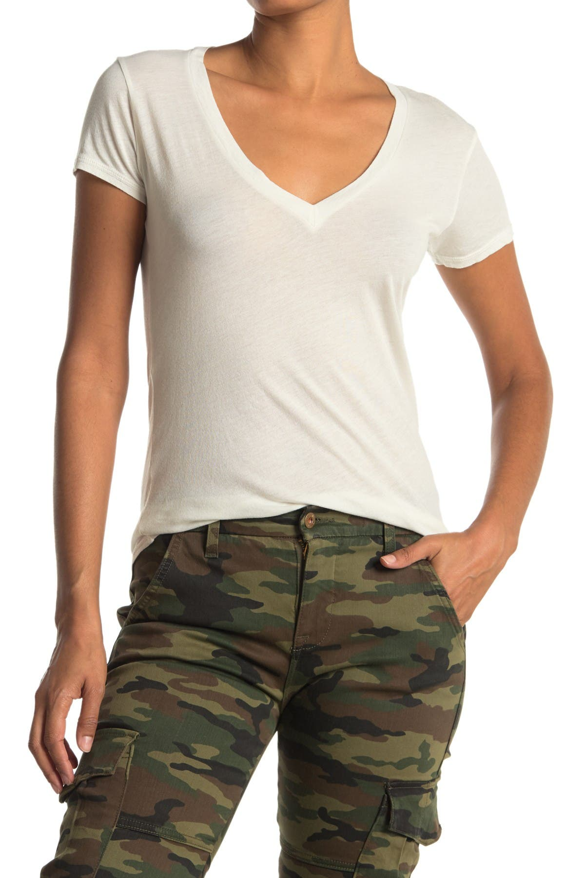 Image of NSF CLOTHING Julia V-Neck Tee