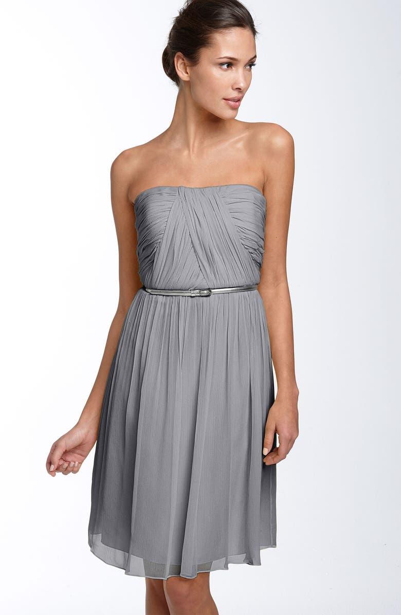 DONNA MORGAN 'Donna' Belted Chiffon Dress, Main, color, 020