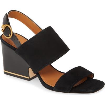 Tory Burch Selby Block Heel Sandal- Black