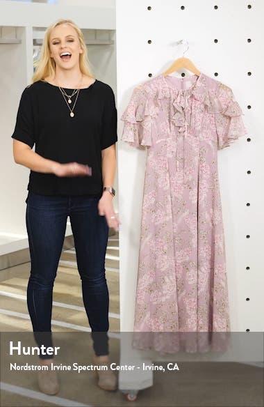 Shelby Tie Neck Ruffle Maxi Dress, sales video thumbnail