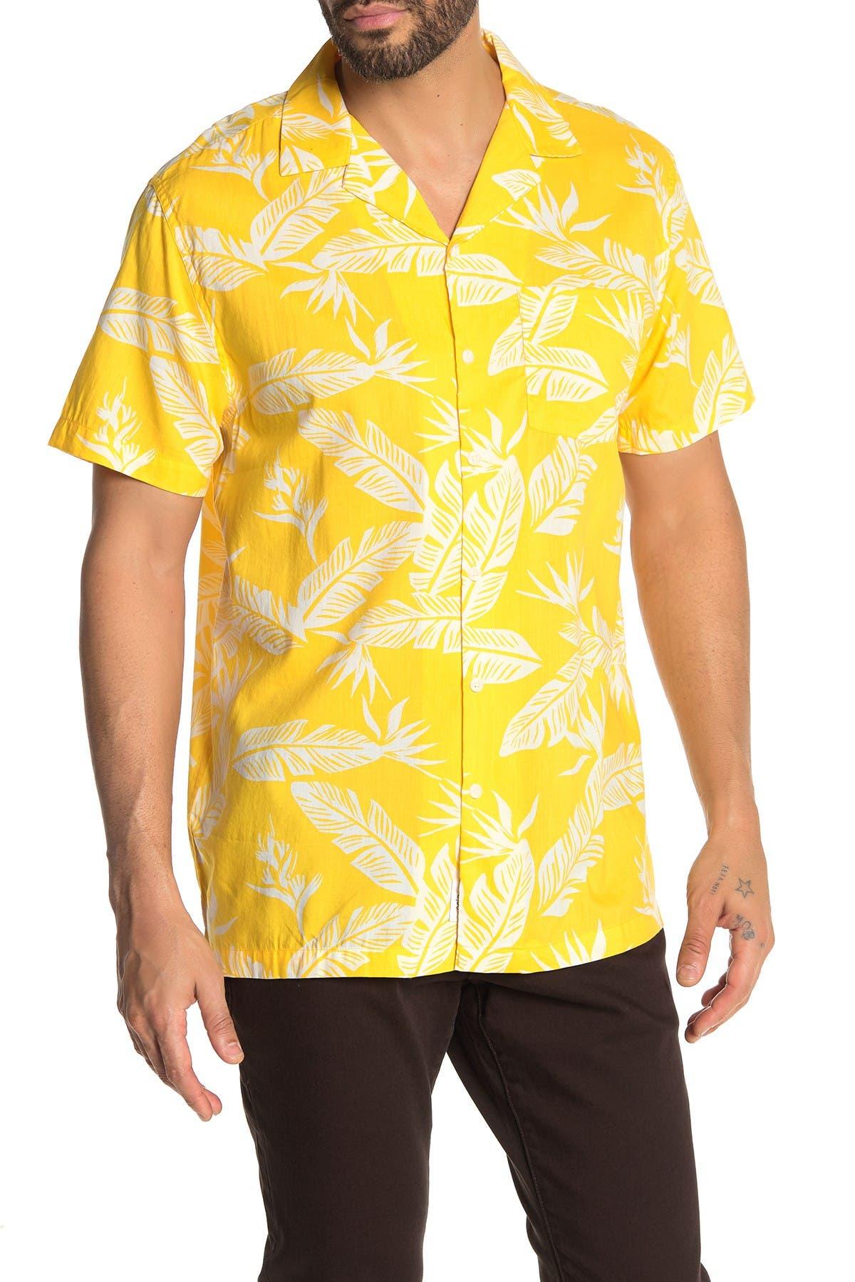 Image of Onia Hawaiian Print Short Sleeve Trim Fit Shirt