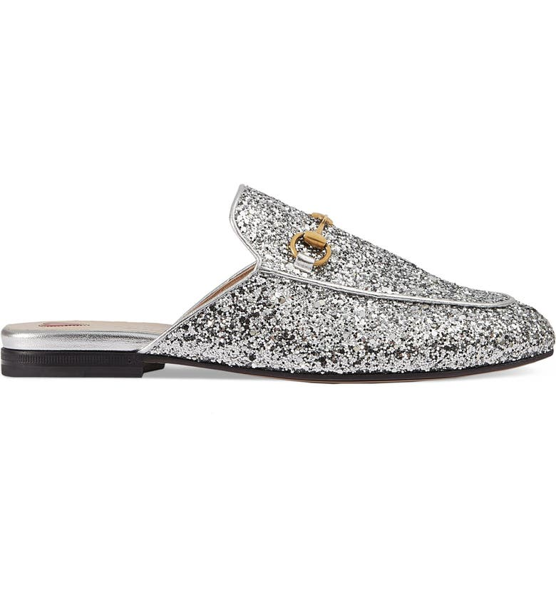 GUCCI Princetown Glitter Mule, Main, color, 020