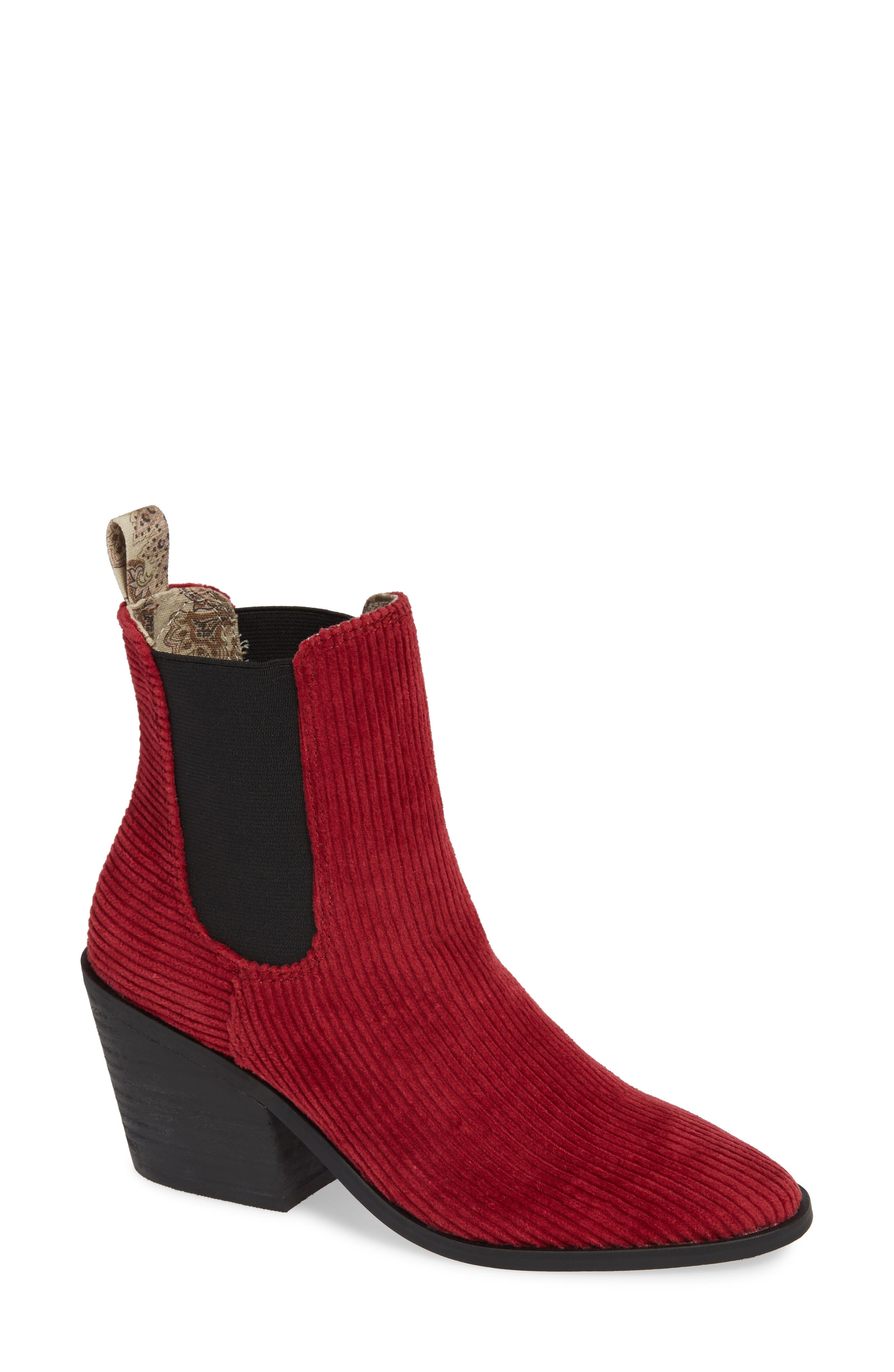 Band Of Gypsies Shadow Chelsea Boot, Red