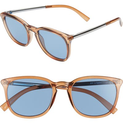 Le Specs Rebeller 5m Round Sunglasses - Syrup/ Navy