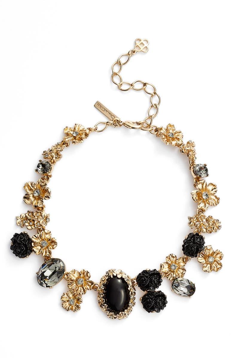 OSCAR DE LA RENTA Crystal Collar Necklace, Main, color, 001