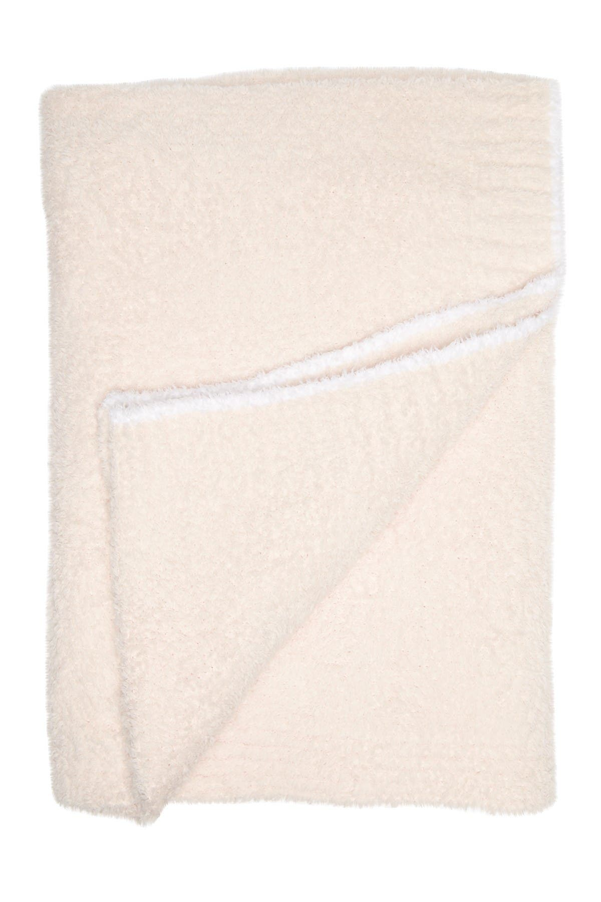 "Image of Barefoot Dreams CozyChic Rib Trim Throw - 45"" x 60"""