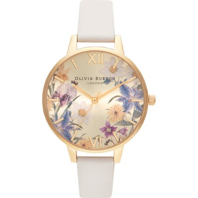 Olivia Burton Best In Show Faux Leather Strap Watch,