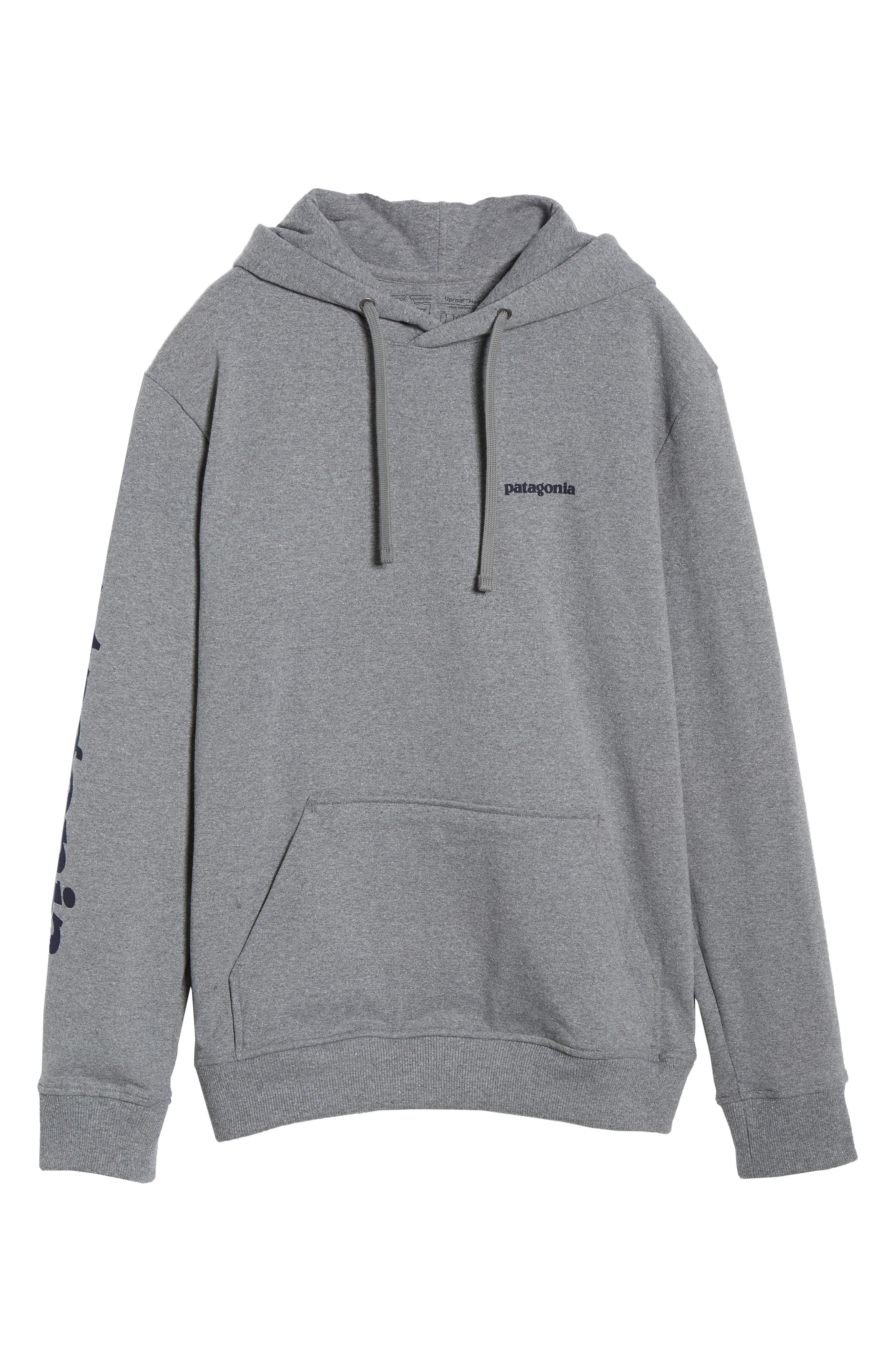 ,                             Text Logo Uprisal Recycled Cotton Blend Hoodie,                             Alternate thumbnail 6, color,                             GRAVEL HEATHER
