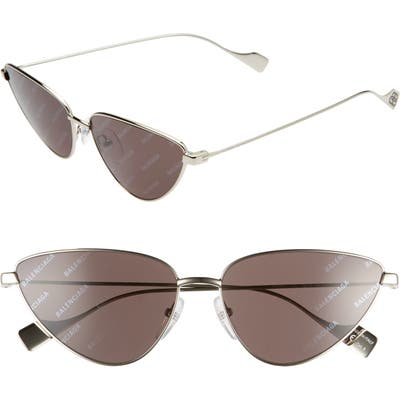 Balenciaga 5m Cat Eye Sunglasses - Silver/ Grey
