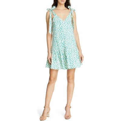 Rebecca Taylor Emerald Daisy Tie Strap Cotton Sundress, Ivory