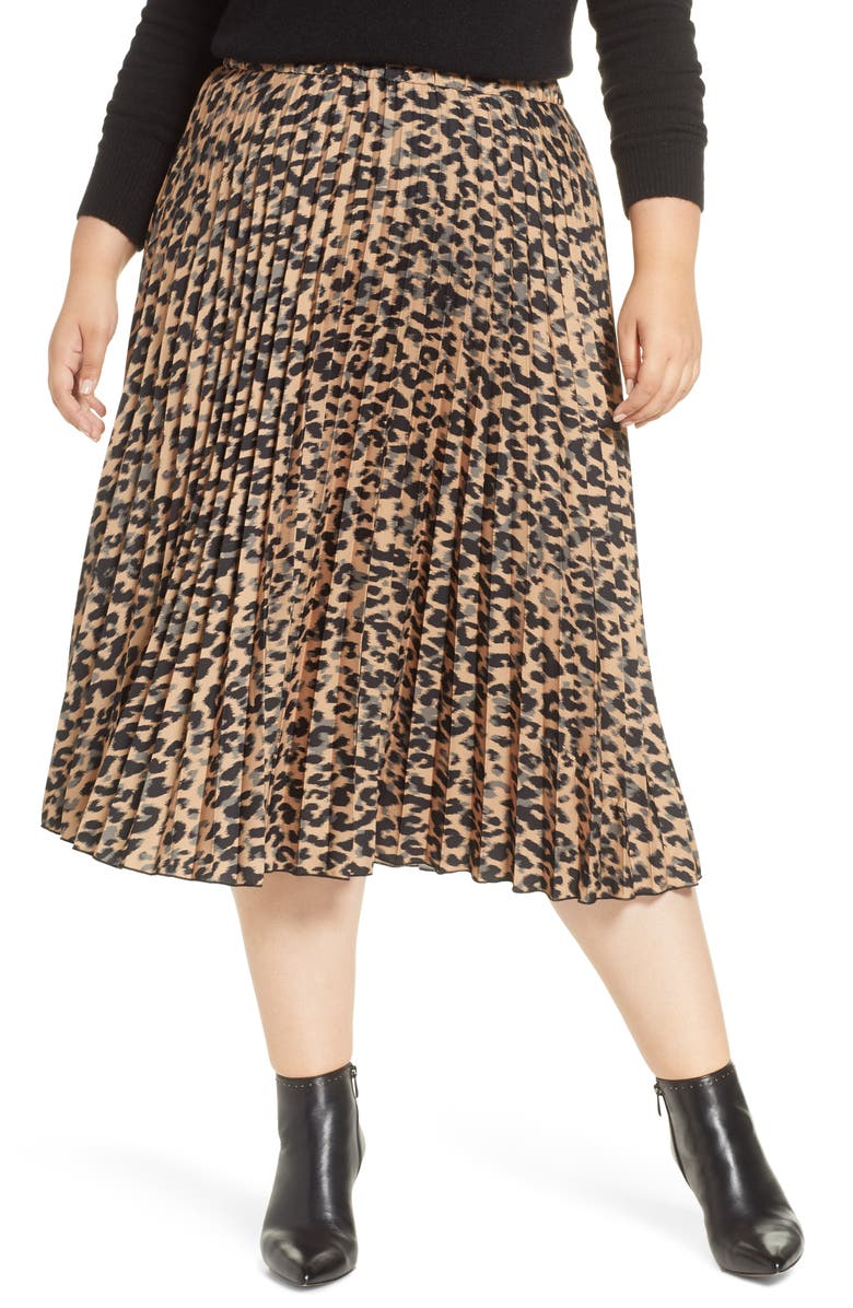 HALOGEN<SUP>®</SUP> Pleated Midi Skirt, Main, color, 235