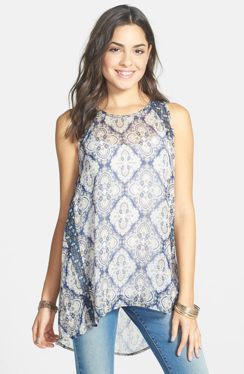 CHLOE & KATIE Chloe K Mix Print Tunic, Main, color, 400