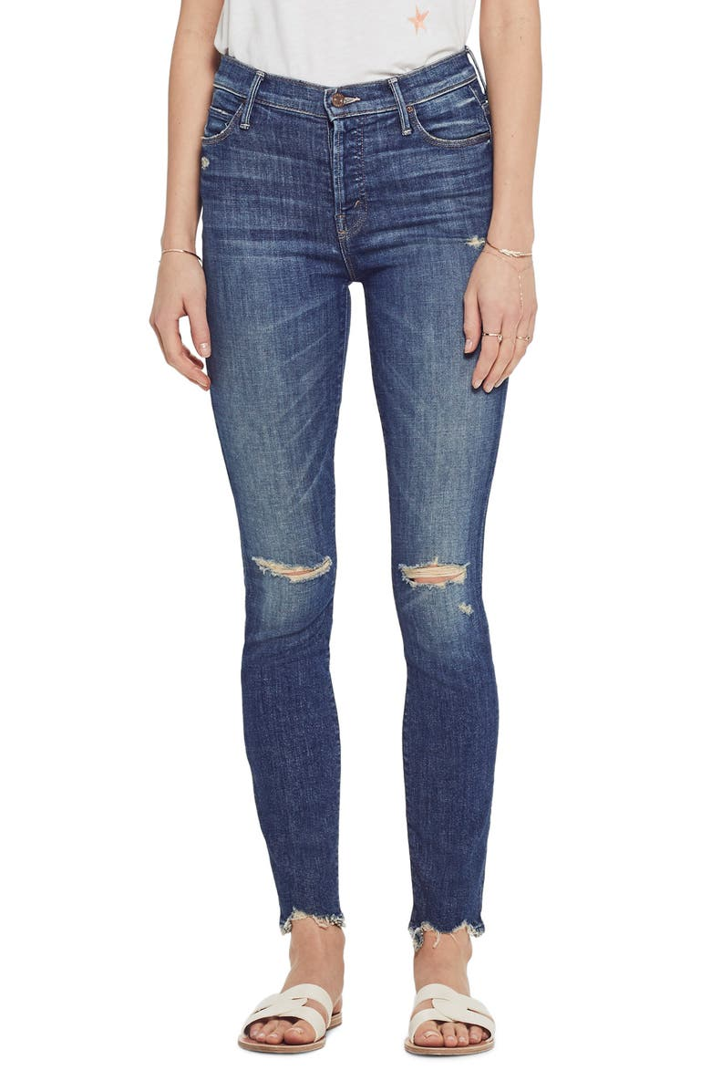 MOTHER The Stunner Chew High Waist Ankle Skinny Jeans, Main, color, 420