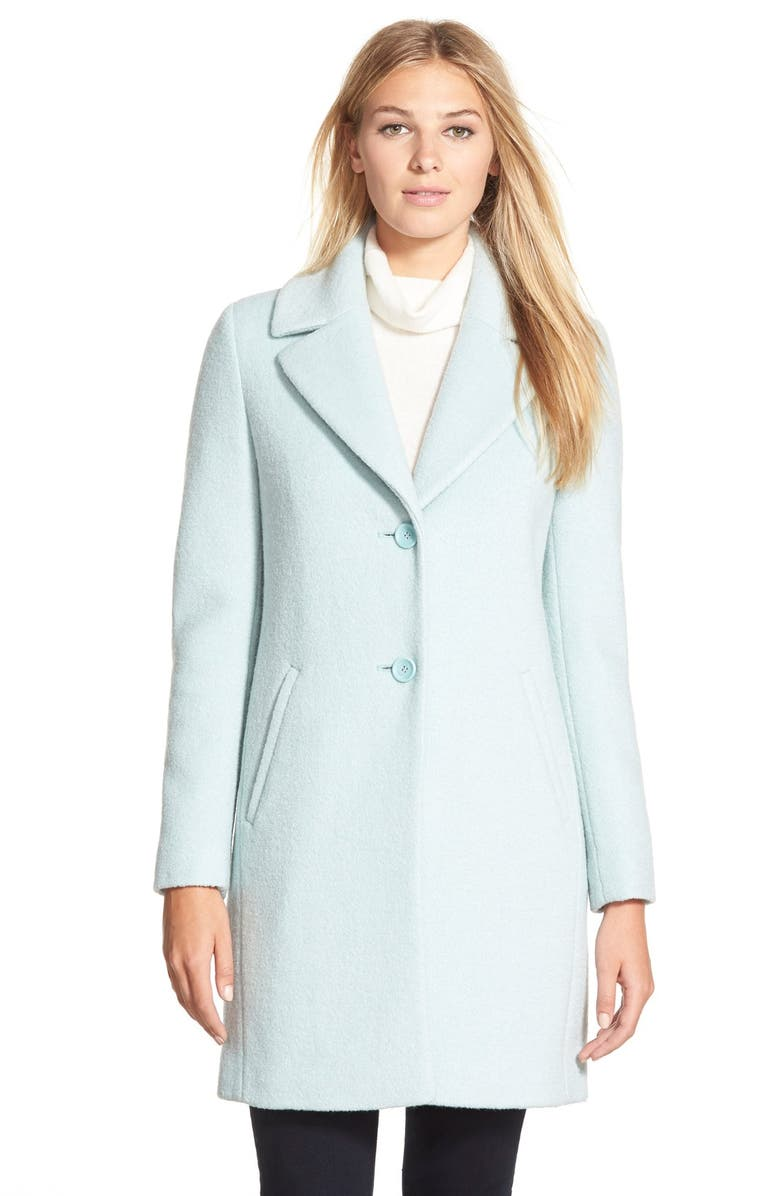 T TAHARI 'Chloe' Notch Collar Single Breasted Coat, Main, color, 402