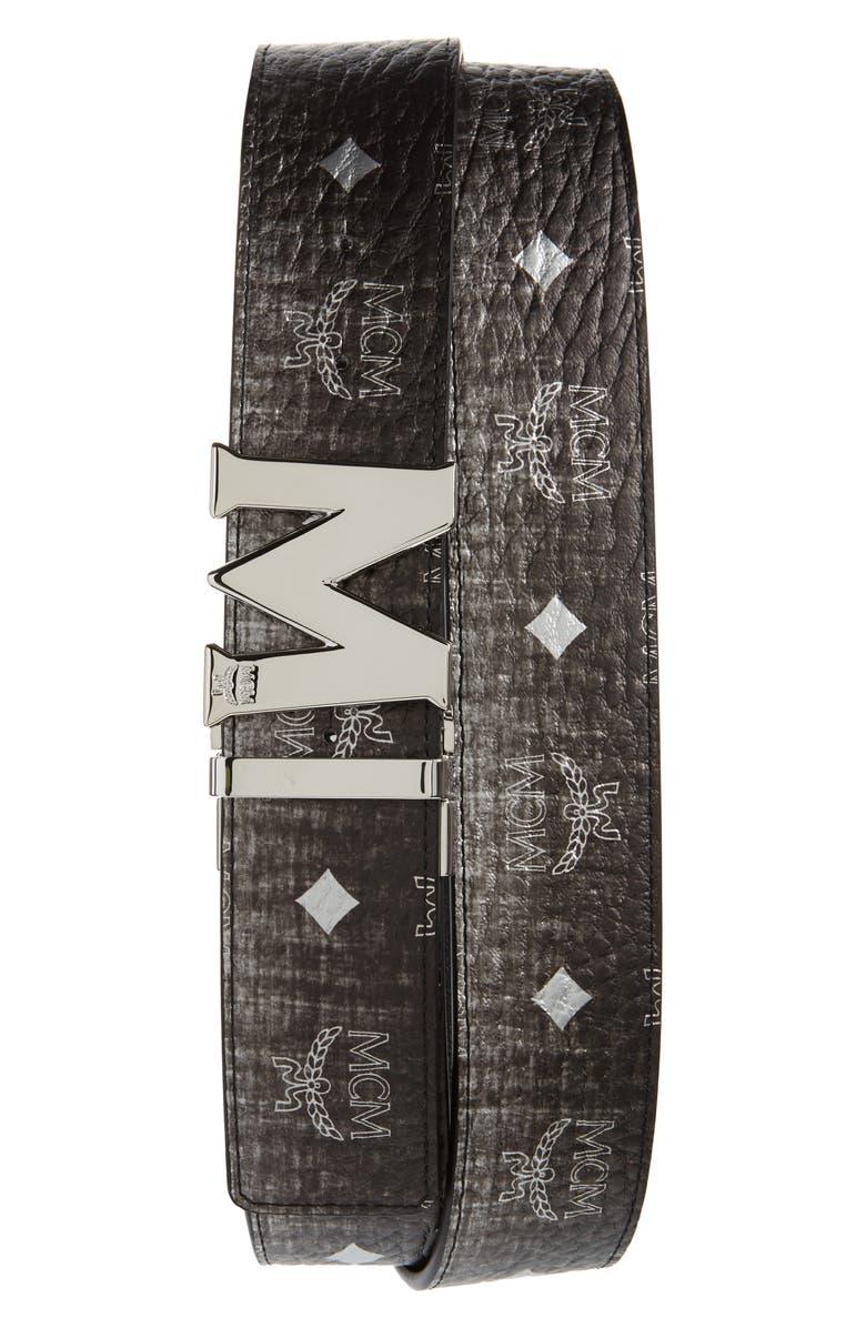 MCM Claus Reversible Belt, Main, color, SILVER