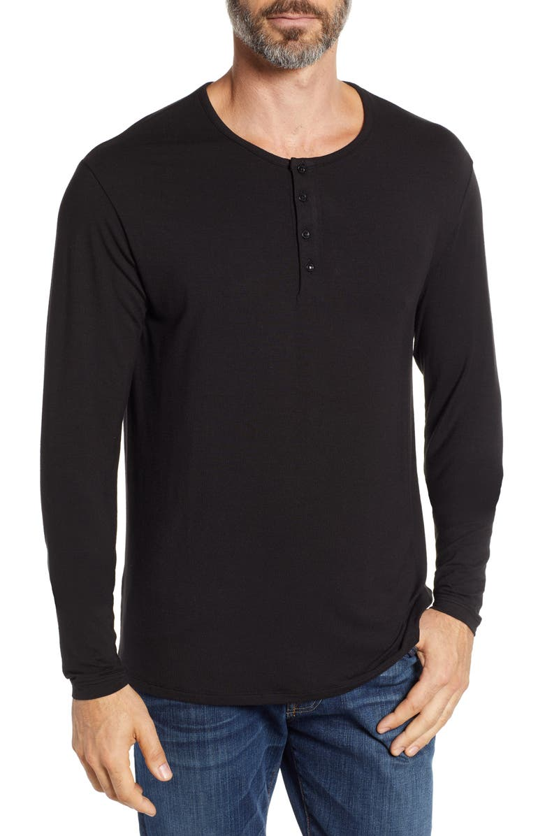 STONE ROSE Stretch Modal Henley, Main, color, 001