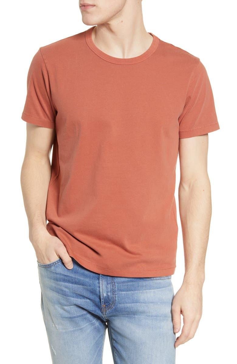 MADEWELL Garment Dyed Allday Crewneck T-Shirt, Main, color, WEATHERED BRICK