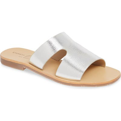 Chinese Laundry Mannie Slide Sandal- Metallic