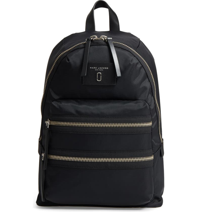 MARC JACOBS Biker Nylon Backpack, Main, color, 001