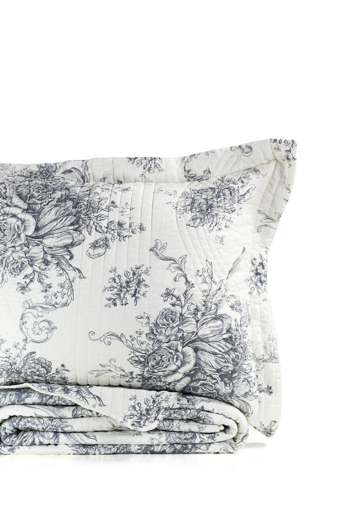 Image of Melange Home Toile Cotton Quilt 3-Piece Set - Full/Queen