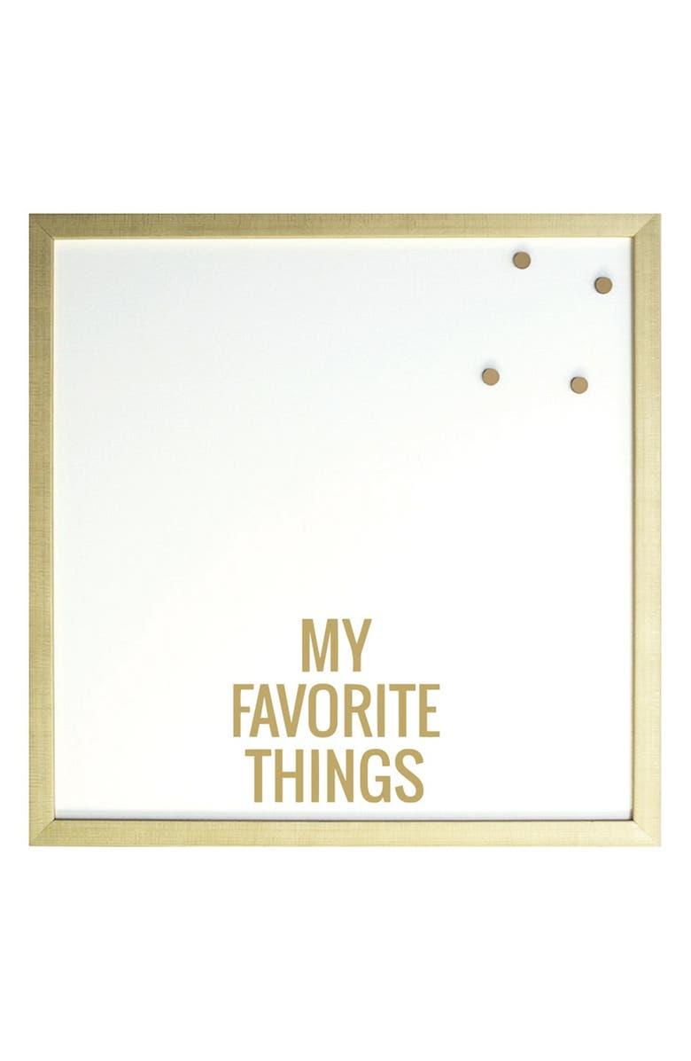 PETAL LANE 'My Favorite Things' Magnet Board, Main, color, 710