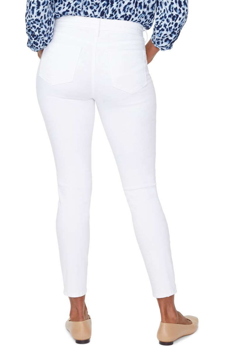 NYDJ Ami Exposed Button Stretch Ankle Jeans, Main, color, OPTIC WHITE