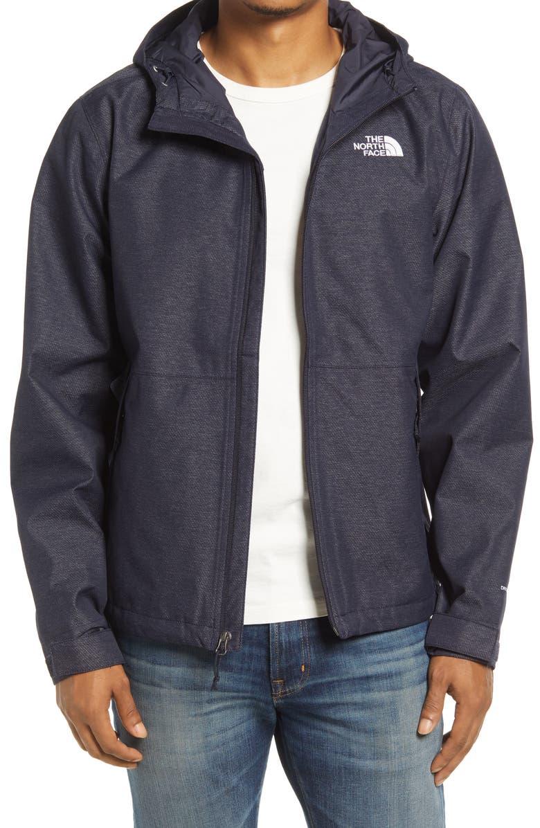 THE NORTH FACE Men's Millerton Waterproof Hooded Jacket, Main, color, AVIATOR NAVY HEATHER