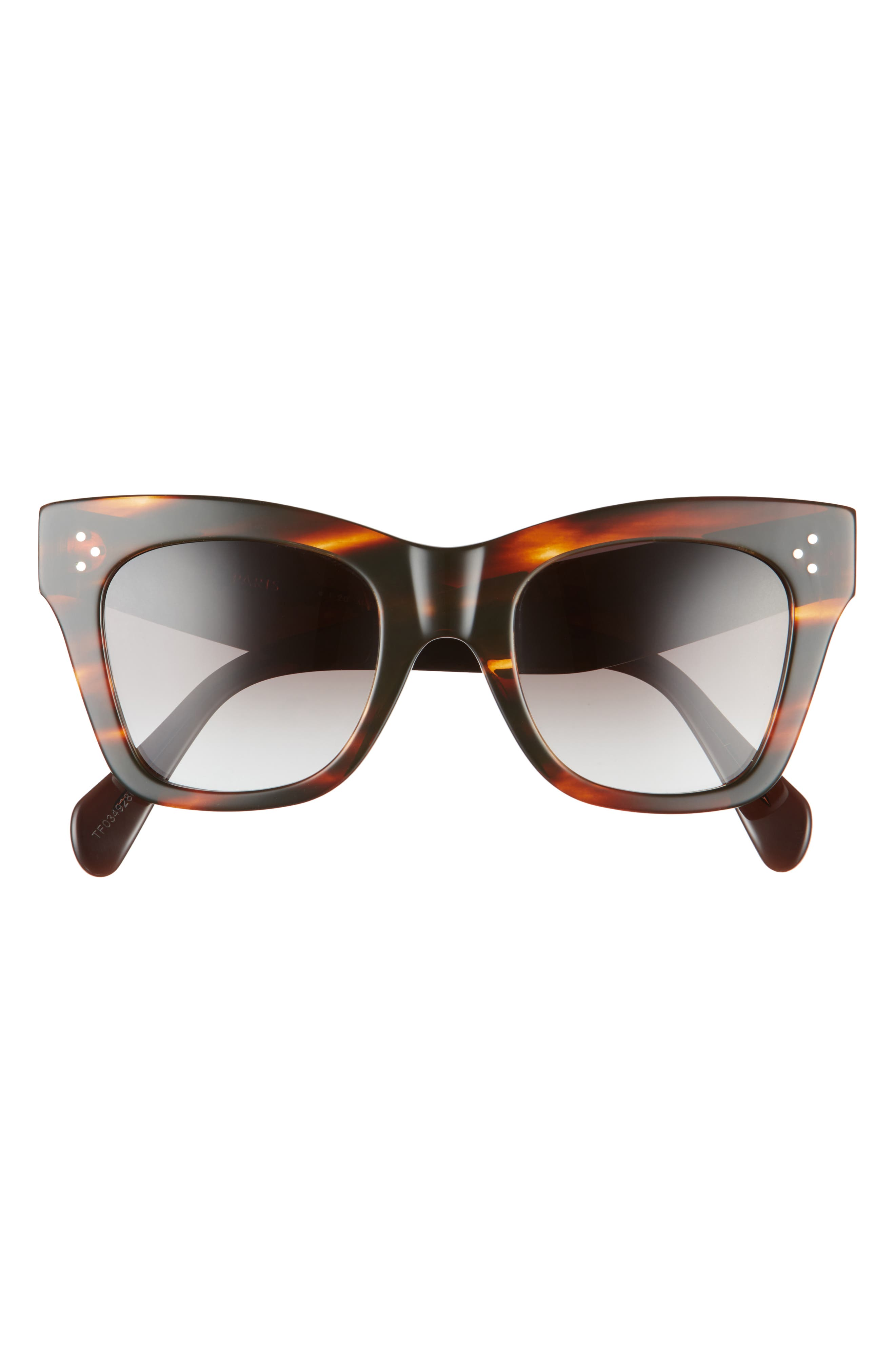 50mm Gradient Cat Eye Sunglasses