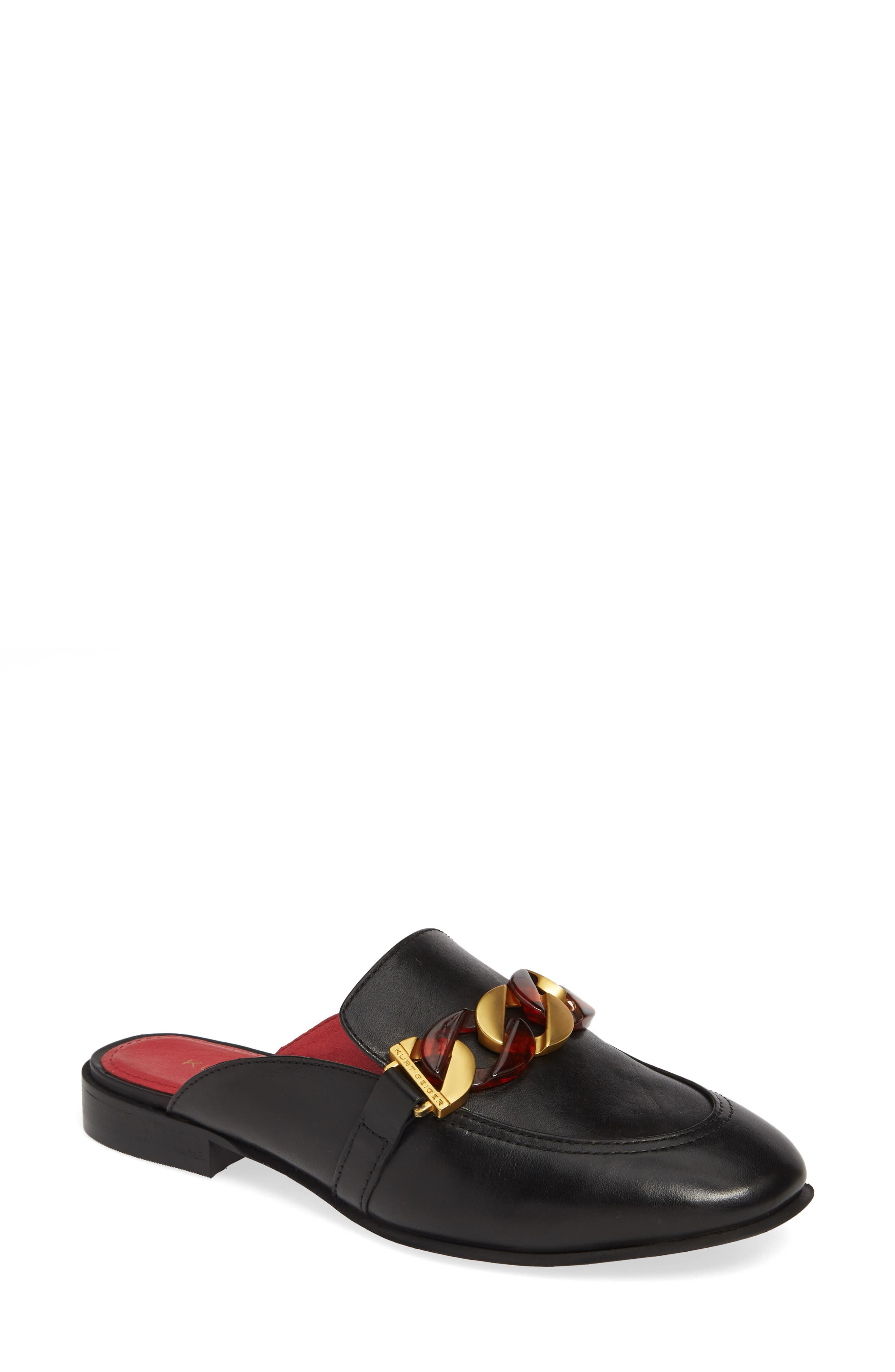 Kai Chain Loafer Mule, Main, color, 001