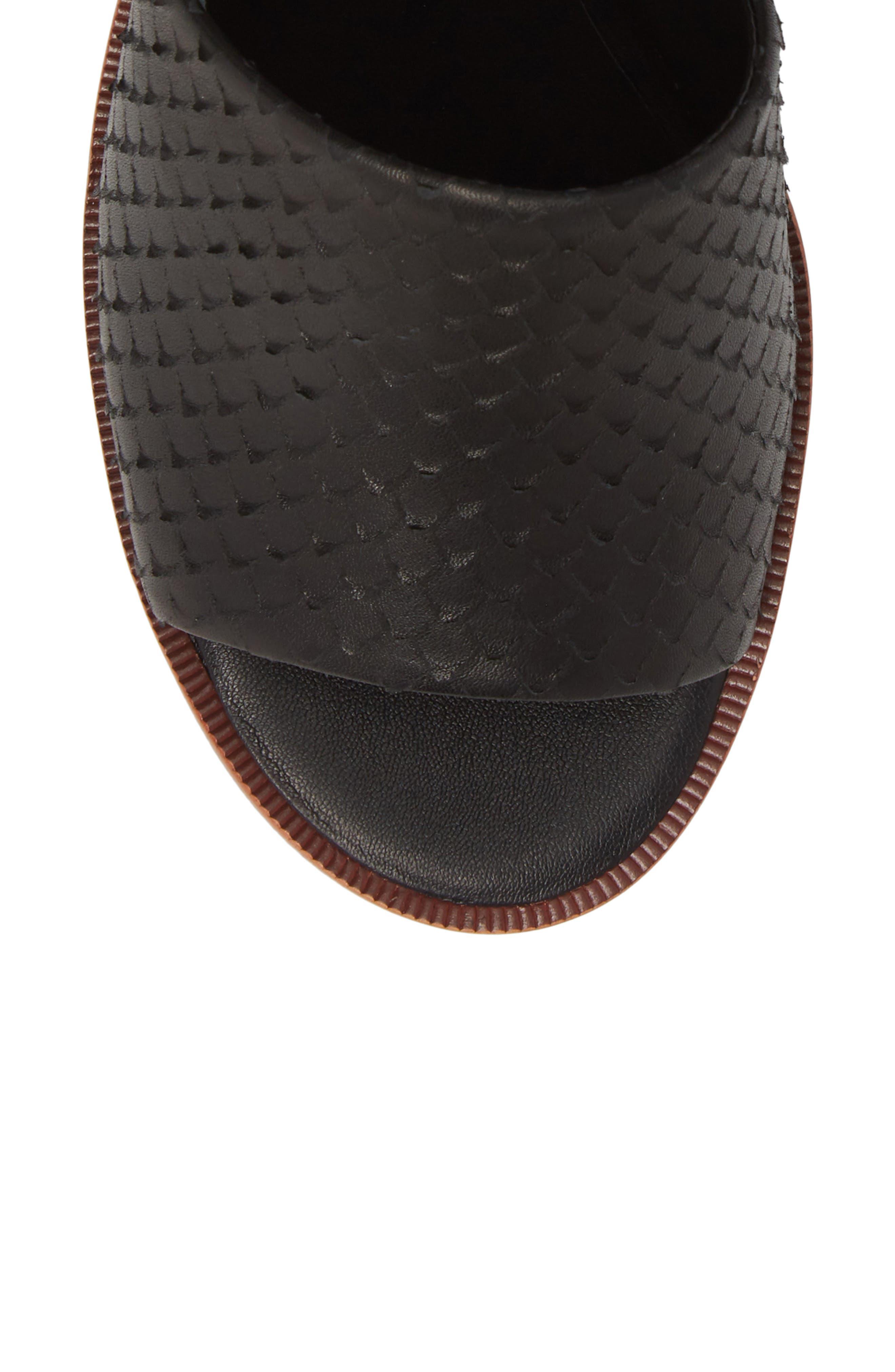 ,                             Riga Platform Sandal,                             Alternate thumbnail 5, color,                             001
