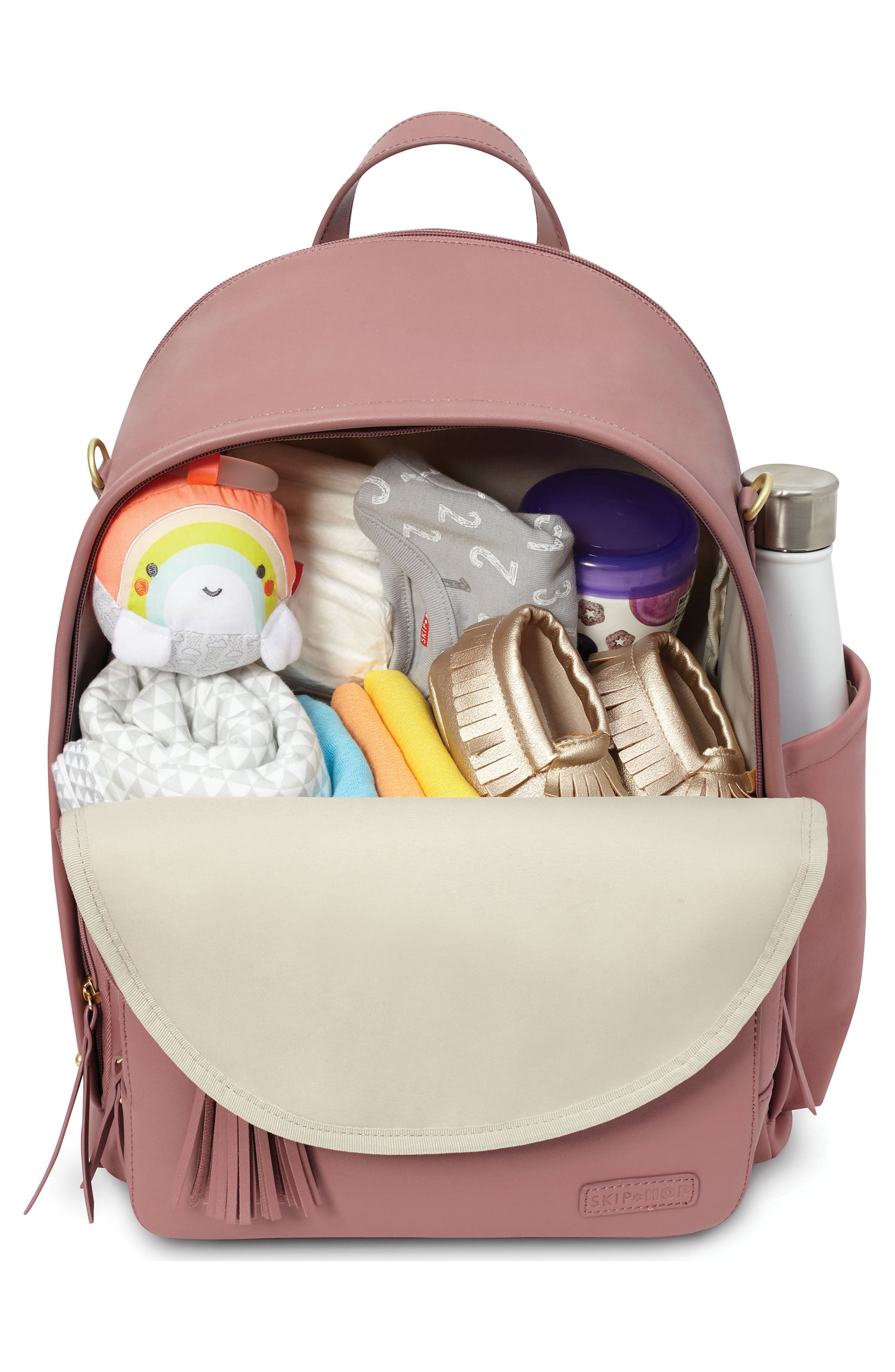 ,                             Greenwich Simply Chic Diaper Backpack,                             Alternate thumbnail 3, color,                             DUSTY ROSE
