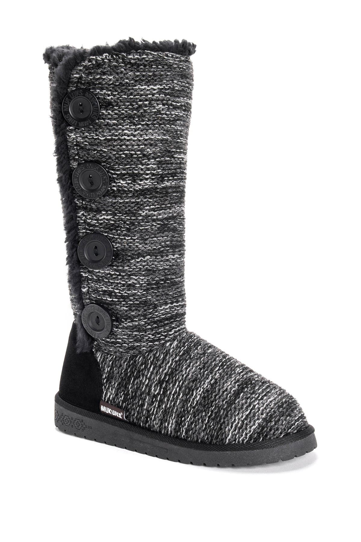 Image of MUK LUKS Liza Water-Resistant Faux Fur Knit Boot