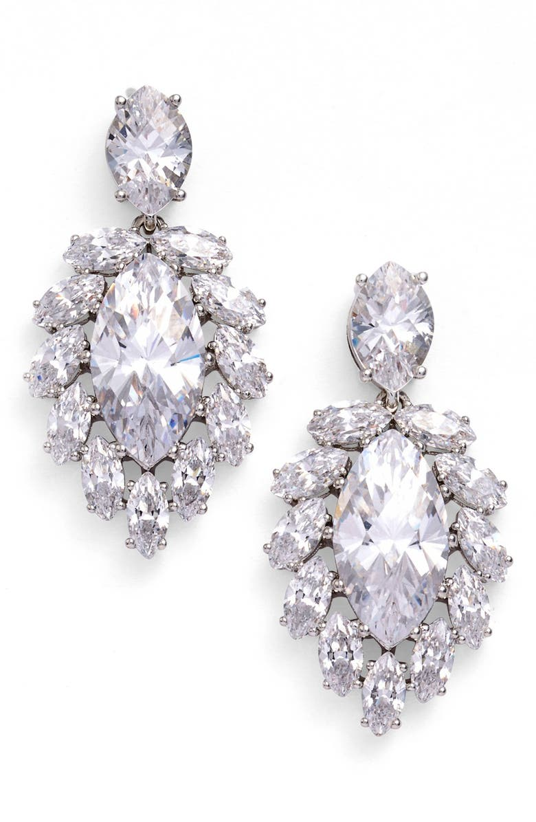 NADRI Marquise Center Drop Earrings, Main, color, 040
