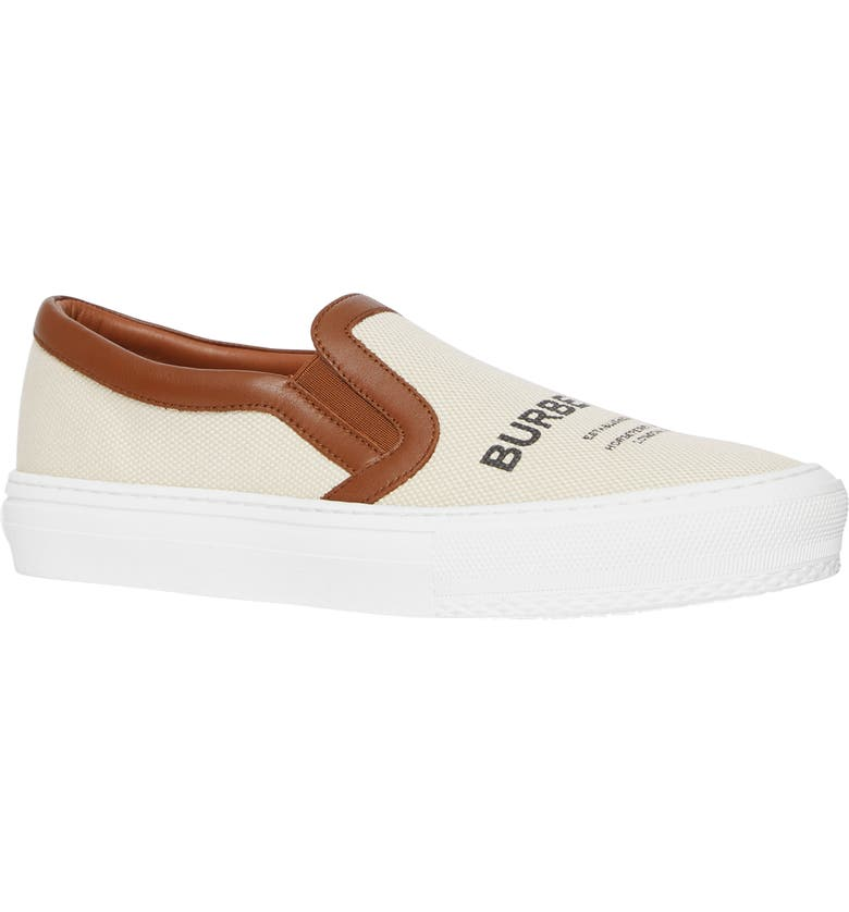 BURBERRY Delaware Slip-On Sneaker, Main, color, MALT BROWN