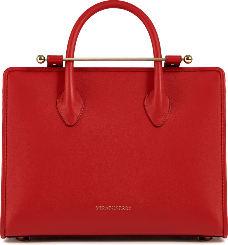 STRATHBERRY Midi Leather Tote, Main, color, 600
