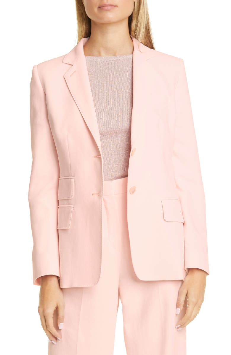 MAX MARA Adele Jacket, Main, color, PINK